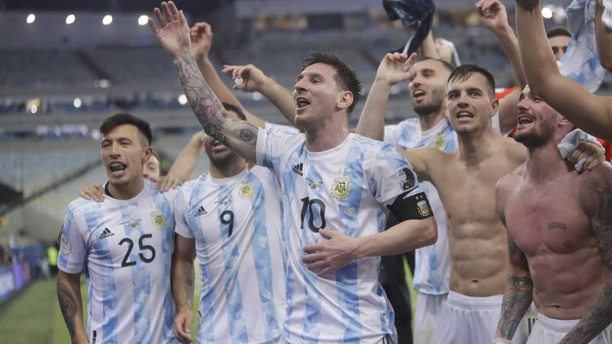 Argentina with Messi taking the glories in Copa America against Brazil with Neymar
