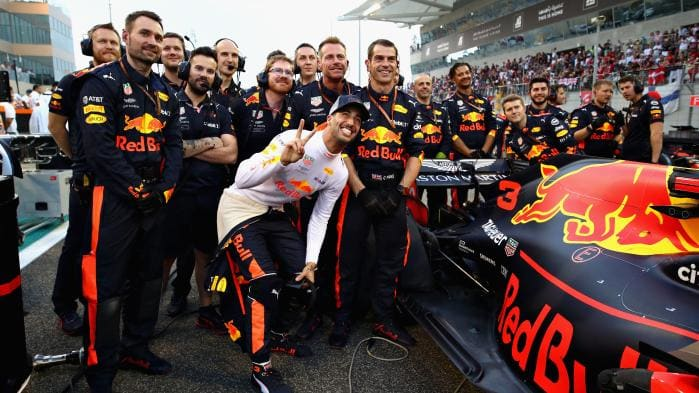 Daniel Ricciardo leaves Red Bull as Max Verstappen and Christian Horner pay tribute