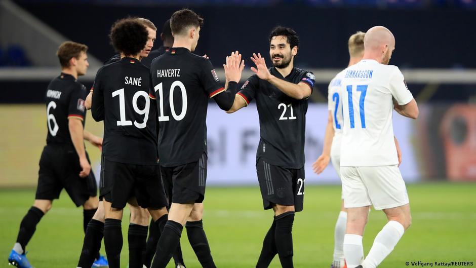 Germany starts with a 3:0 victory over Iceland