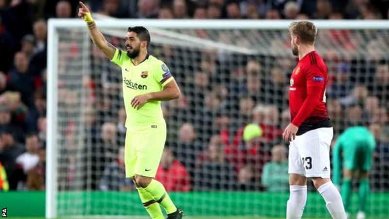 UEFA Champions League: Barcelona win against Manchester United